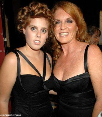 Beatrice and her mom, Fergie.